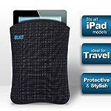 BUILT Neoprene Slim Sleeve for all iPads, Graphite Grid