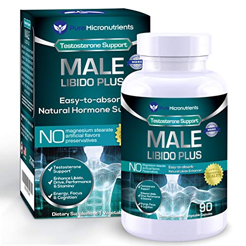 - Male Libido Plus- Natural Testosterone Booster for Men That Supports Energy, Desire, Performance & Stamina. Maca, Ginseng, Horny Goat Weed, Muira Puama & Tribulus - Pure Micronutrients