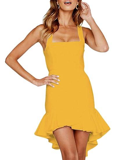 Emmala Faldas Tubo Mujer Verano Faldas Sólidos Colores Cintura ...