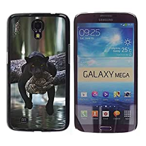 Design for Girls Plastic Cover Case FOR Samsung Galaxy Mega 6.3 Panther Lazy Sleepy Cute Big Cat Africa OBBA
