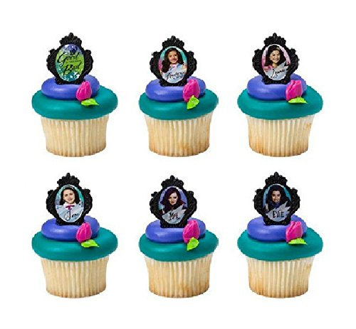Disney Descendants Good Bad 24 Cake Cupcake Birthday Party Toppers Favors Rings