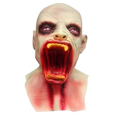 bestoyard marshmallow  : BESTOYARD Halloween Masks Scary Latex Mask Zombie ...