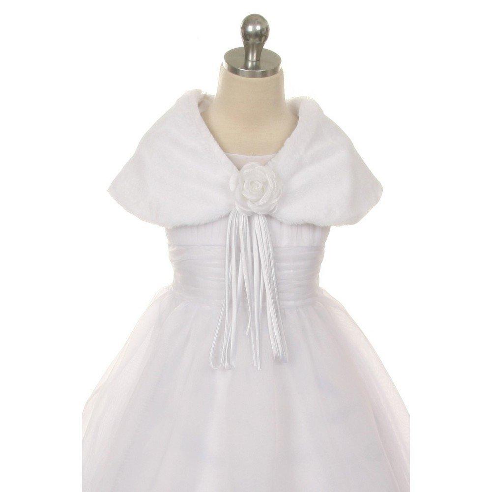 Kid's Dream White Flower Shoulder Wrap Elegant Shawl Girl 6
