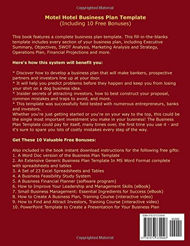 Motel hotel business plan template including 10 free bonuses motel hotel business plan template including 10 free bonuses business plan expert 9781973339946 books amazon flashek Choice Image