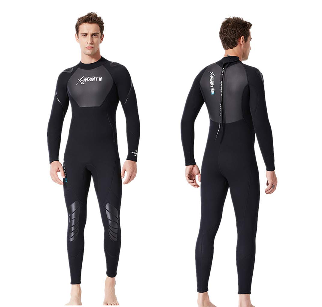 WoCoo Wetsuit Men Full 3mm Surfing Suit Super stretch Diving Suit Thermal Wetsuits Snorkeling Swimming Jumpsuit(Black,Medium) by WoCoo-Wetsuit