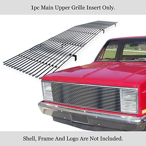 APS Compatible with 1981-1987 Chevy GMC Pickup/Suburban/Blazer/Jimmy Phantom Stainless Billet Grille #N19-S20258C