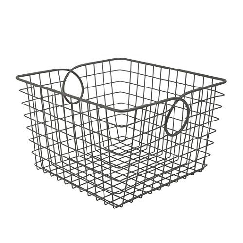 - Spectrum Diversified Teardrop Storage Basket, Large, Industrial Gray