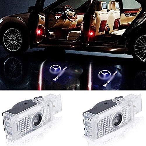 Ydieon Mercedes-Benz CLA spezielle begrüßen Licht CLA CLS A207 C207 Tür Logo Projektionslampe Auto-Laserlicht, 2Stk (Size : 2Pcs)