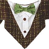 Robin Hood Formal Dog Bandana with Green Bow Tie (Medium)