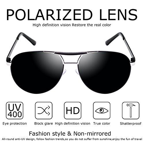polarizadas 400 UV Kennifer sol Gris protección para hombre Gafas de con qXScBwzXP