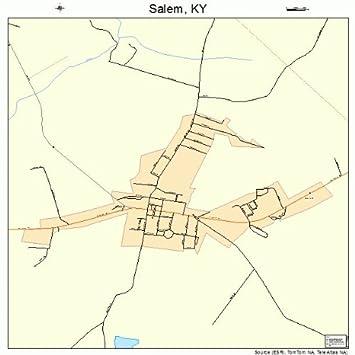 Amazon.com: Large Street & Road Map of Salem, Kentucky KY ...