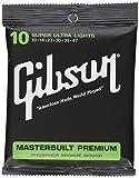 Gibson Masterbuilt Premium Phosphor Bronze Acoustic Guitar Strings, Super Ultra Light 10-47