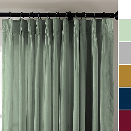 tured Faux Dupioni Silk Curtain Panel Pinch Pleated 50