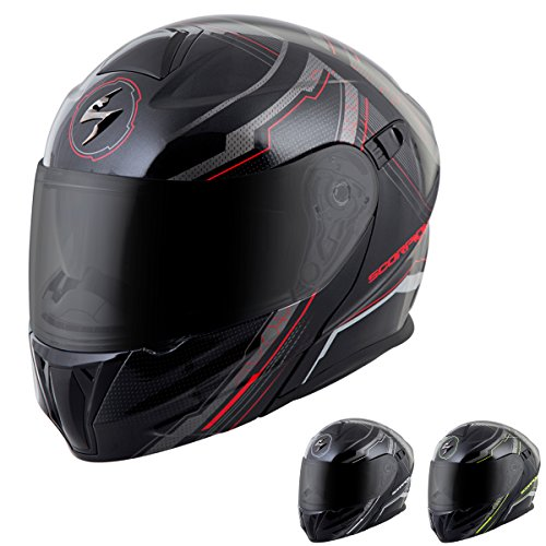 ScorpionExo EXO-GT920 Full Face Modular Helmet (Satellite Silver, X-Large)