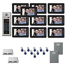 Building Video Intercom Ten 7 video monitor door camera kit