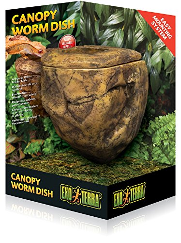 Exoterra Cachette pour Reptiles Canopy Wormdish Feeder Exo T PT2825