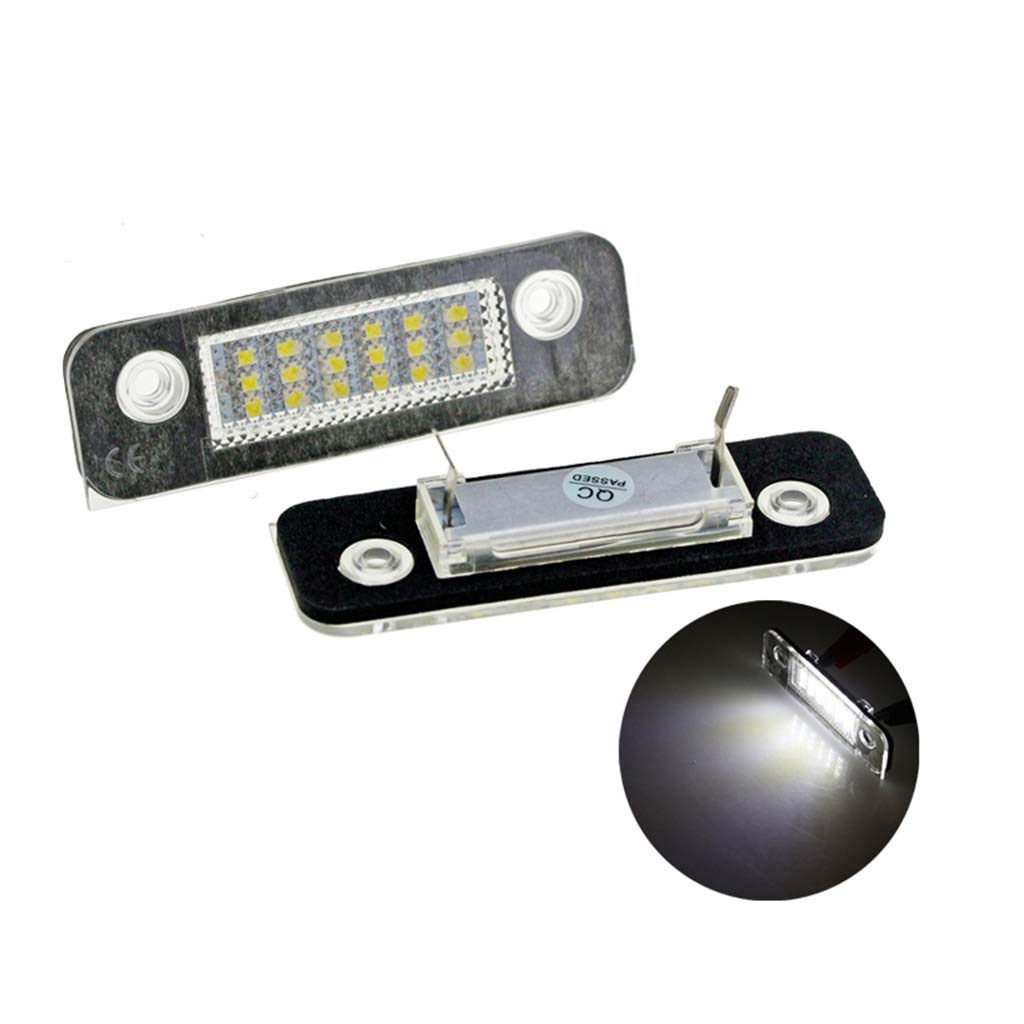 Xuniu 2 St/ück 12 V 18 LED Autokennzeichenleuchte F/ür Ford Fusion f/ür Mondeo MK2 f/ür Fiesta MK5