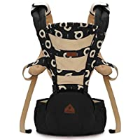 LANOVA The Best Baby Sling Carrier Can Wrap Both Front and Back,100% Cotton Baby Carrier(Black)