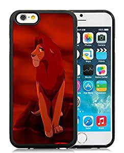 Beautiful DIY Designed With The Lion King Simba 2 Cover Case For iPhone 6 4.7 Inch TPU Black Phone Case CR-626