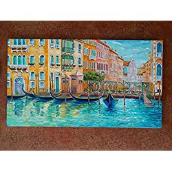 Venice cityscape Grand Canal Original Oil Painting On Canvas Italy Painting Home Interior Wall Art Canvas Venice Art