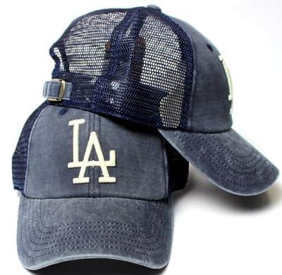 American Needle Los Angeles Dodgers Raglan Bones Soft Mesh Back Slouch Twill Cap