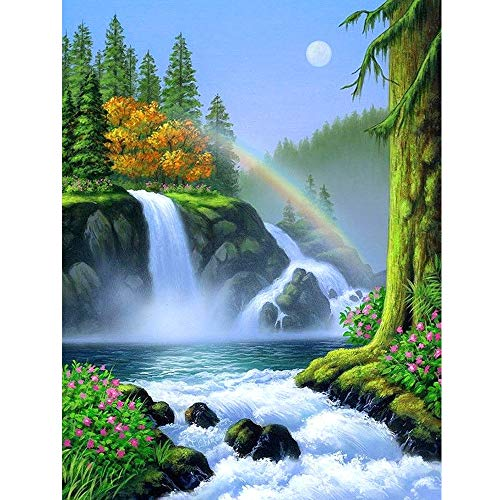 BeautyShe DIY 5D Diamond Painting by Number Kit, Full Drill Embroidery Cross Stitch Arts Craft Canvas Wall Decor 11.81'x15.84 Inch -