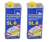 ATE 706402 Original SL.6 DOT 4 Brake Fluid - 2 Liters