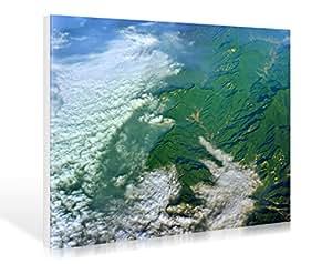 Lienzo GEO ART - THE Great Wall - China de hady dani, 119 x 80 cm, diseño de hasta los bordes, diseño, Póster, HADYPHOTO, fotografía, foto arte, Colour, paisaje, aire de grabación, Asia, China, B.. , fabricación de gran calidad - Tipo de galería shop