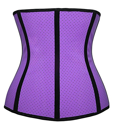 Shaper Trainer Bustino Yianna Purple Corsetto Modellante Danna Breathable Corpetto Body Latex Waist SnSI84waq