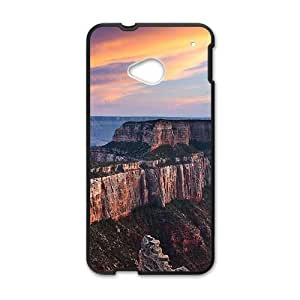 Personalized protective cell phone case for HTC M7,glam sunset sky and grand mountains design