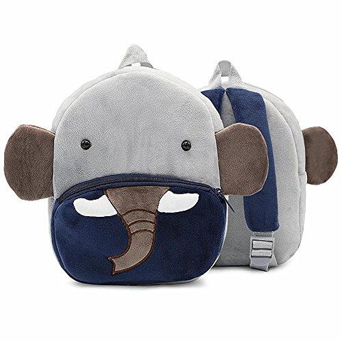 Toddler Kids Backpacks Plush Animal Cartoon Mini Bookbag Cute Elephant Schoolbags by OldFriend