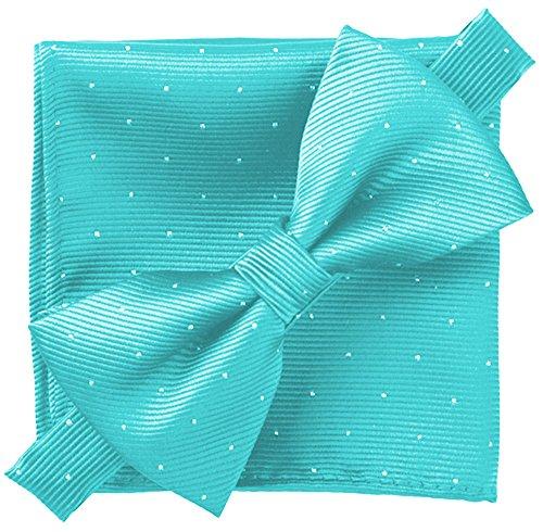 Flairs New York Gentleman's Essentials Bow Tie (Tiffany Blue [Glitter Dot ()