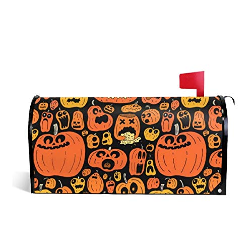 KIIKISS HUG Funny Halloween Calabazas Magnetic Mailbox Cover Covers Standard Size 21x18 in -