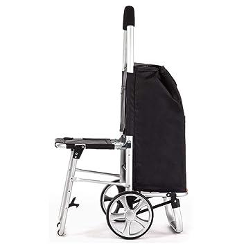 Fotografía Silla plegable Carrito de compras con ruedas ...