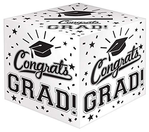 Graduation Cap Card Holder Box (Amscan 380134.08 Grad Cardholder Box, 12