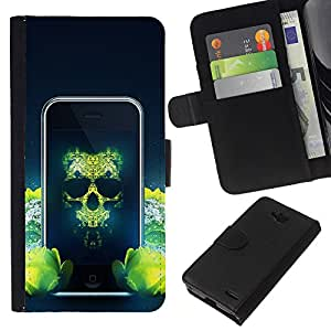 Stuss Case / Funda Carcasa PU de Cuero - Pirata Teléfono - LG OPTIMUS L90