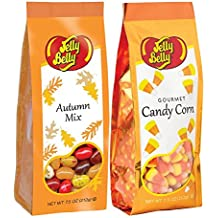 Jelly Belly Giant Candy Corn & Autumn Mix Jelly Beans Set of 7.5 Oz Gluten Free Kosher Candy