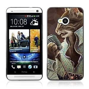 Designer Depo Hard Protection Case for HTC One M7 / Elvis Cat