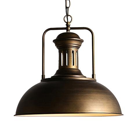 GUOQ Color bronce Retro Industrial hierro forjado colgando ...