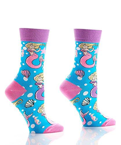 Yo Sox Women's Crew Socks - Mermaid