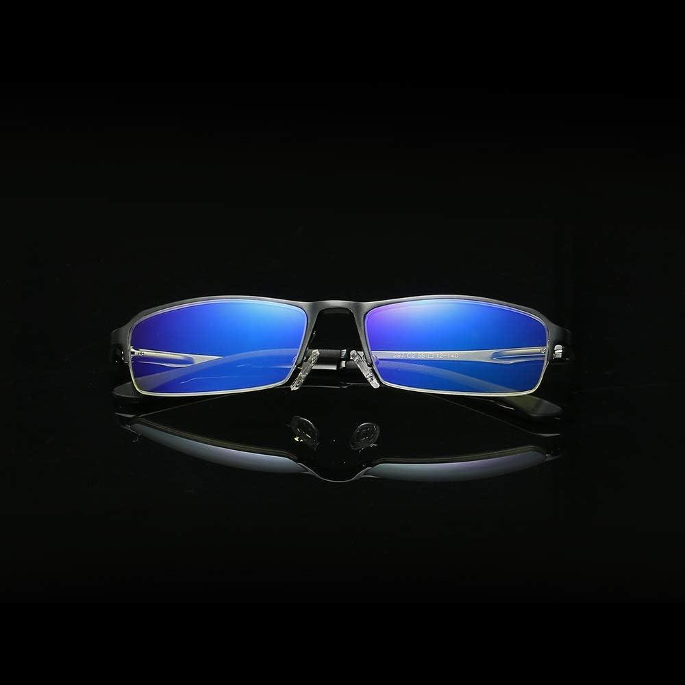 Juego de PC Tel/éfono celular Lectura con tinte TV Gafas de sol de moda Anti luz azul Filtro Anti radiaci/ón Gafas de computadora Lucha contra la fatiga ocular Lente transparente para computadora