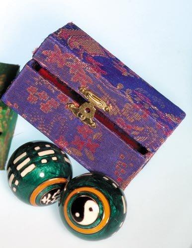 Meditation Qi-Gong-Kugeln - Yin und Yang mit I Ging grün
