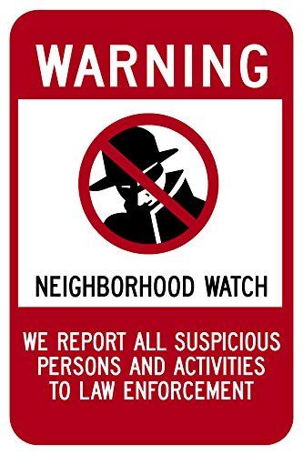 Highway Traffic Supply Aluminum Sign, Legend Neighborhood Watch with Graphic, 10