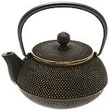 Iwachu Japanese Iron Tetsubin Teapot, Gold/Black
