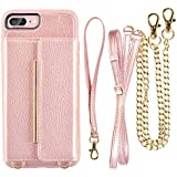 098ff1582be iPhone 7 Plus Card Holder Case with Strap and Crossbody Strap