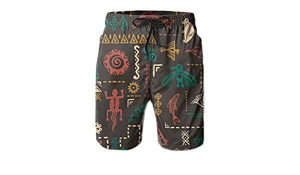 Animal and Symbols Ornament Summer Casual Style Adjustable Beach Home Sport Shorts