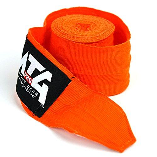 Orange MTG Pro 5m Elasticated Hand Wraps