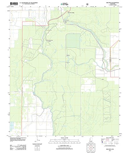 Historic Map   Red Rock, Mississippi (MS) 2012   USGS Historical Topographic Map   Vintage Chart Wall Art Poster Decor Reproduction   24in x 30in