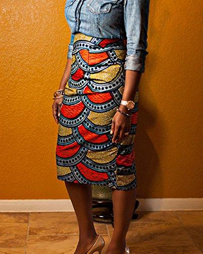 Bodycon Imprim Jupe Mi Longue Comme Jupe Droite Image Haute DianShao Femme Crayon lasticit Taille nSPYqHUq