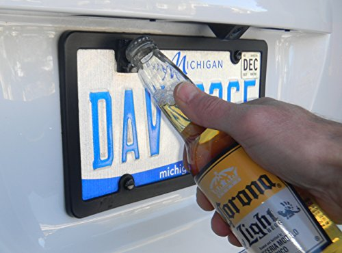 Rear License Plate Mounted Bottle Opener Accessory fits Toyota Tundra and Tacoma